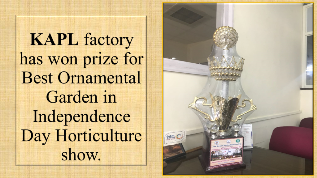 KAPL factory has won prize for Best Ornamental