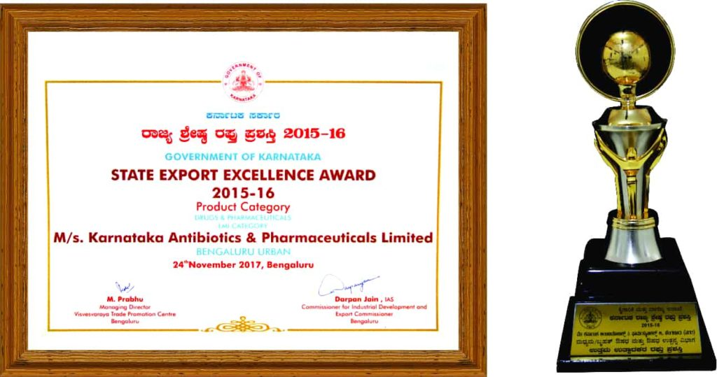 State Export Excellence Award 2015-16