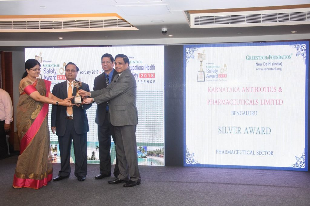 17th Annual Greentech Safety Silver Award 2018
